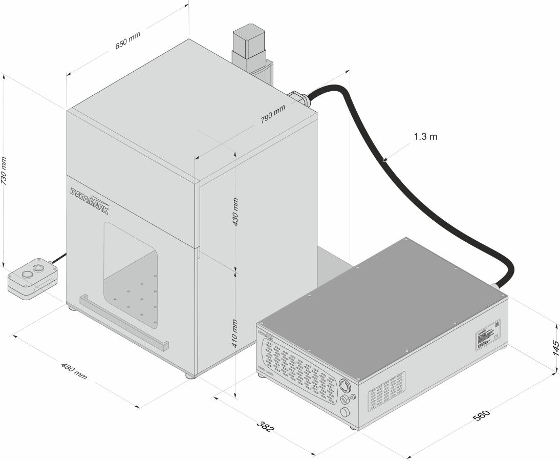 Máquinas de marcado y grabado por laser para piezas grandes