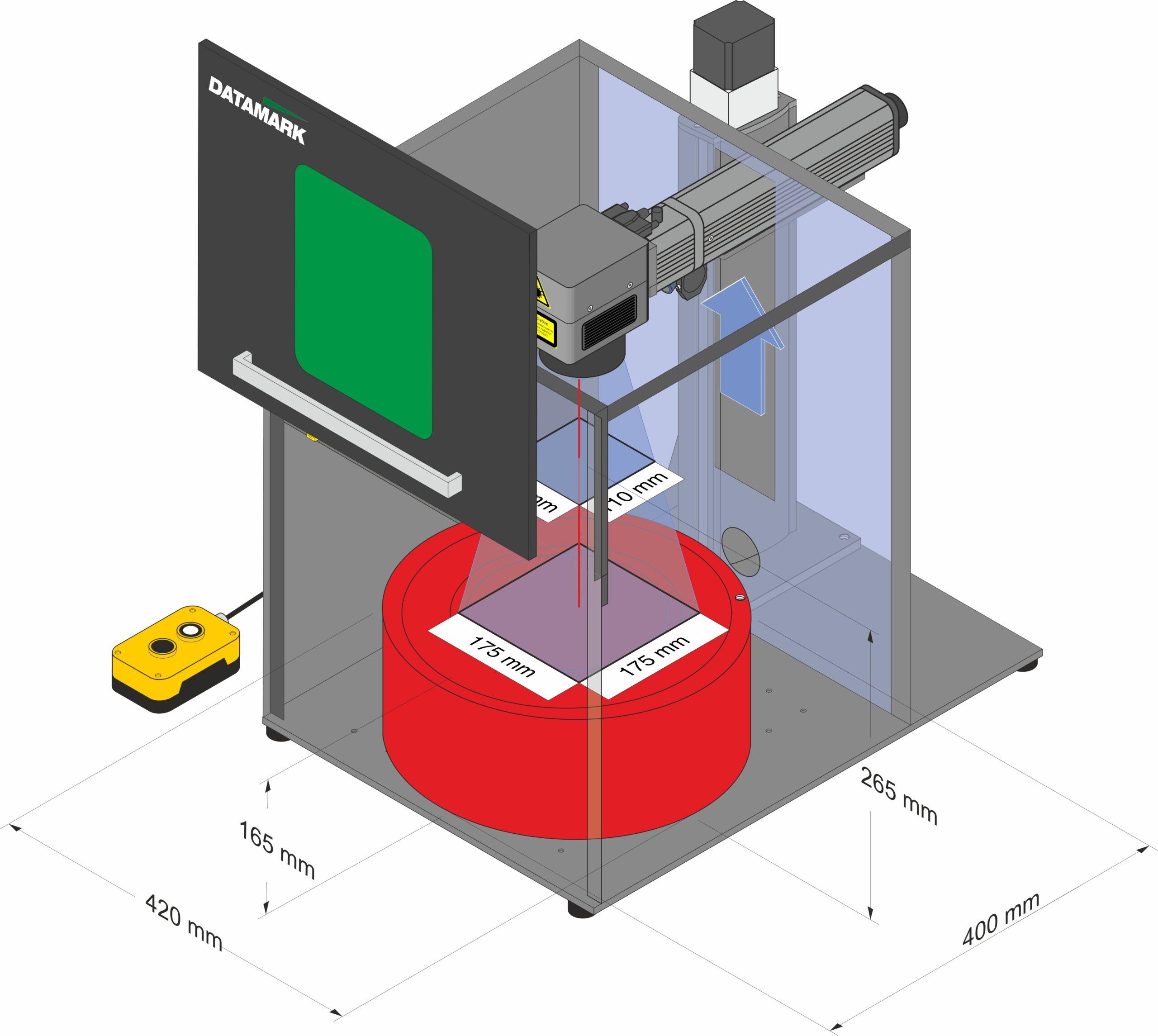 Diemsniones de piezas para marcado y grabado laser