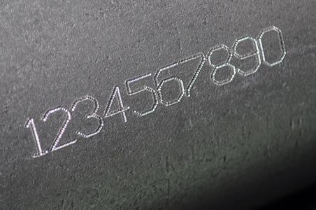 Marcaje de numeraciones en piezas