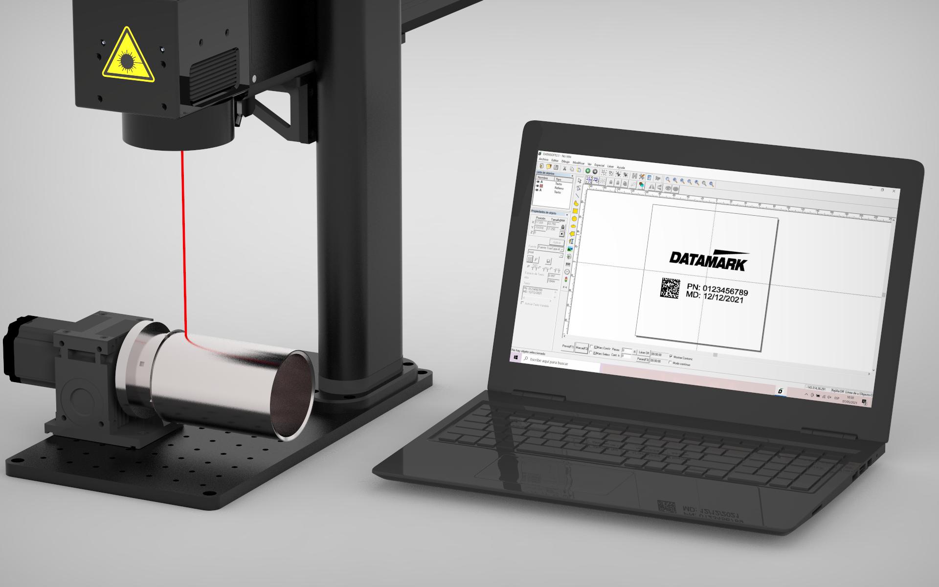 Láser de grabado y marcaje industrial Datamark ML-200